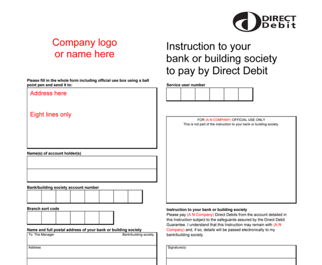 can you set up a direct debit online bank of ireland
